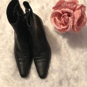 Prada Vintage Sport Black Leather with Kitten Heel